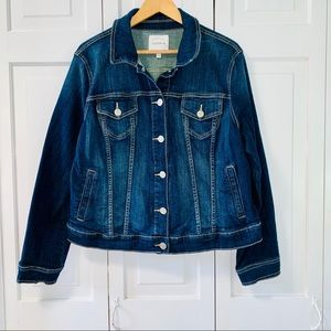 Torrid Denim Jacket Dark Wash Size 1